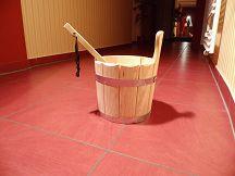 Sauna im Wellessbereich des Studio P24